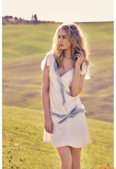 kurzes Kleid mit tiefer Taille Brautkleider hamburg Adonis 2012