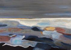 Large Sea Painting Abstract Sea Painting by ArtbySonjaAlfreider