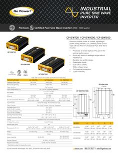 The Solar Extreme is Go Power!'s largerst solar and inverter system on the market. This system will produce enough power to run up to 3000 watts of appliances or electronics at a time. Portable Solar Power, Sine Wave, Rv Campers, Ac Power, Solar Panels, Grid, Knowledge, Pure Products, Digital