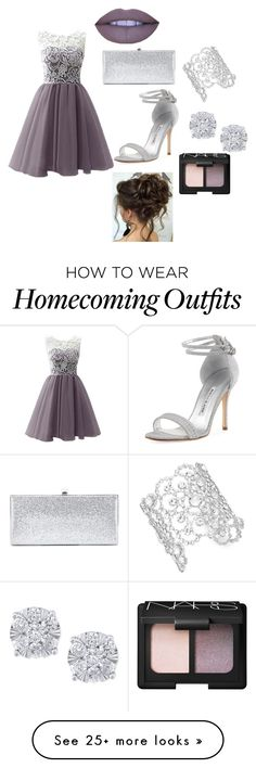 """prom"" by eviesorad on Polyvore featuring Manolo Blahnik, Jimmy Choo, Kate Spade, Effy Jewelry, Jeffree Star and NARS Cosmetics"