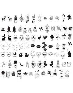 Ekstra symboler til din lightbox fra A Little Lovely Company. Sættet indeholder 85 forskellige der passer perfekt til højtider og festlige lejligheder, fx jul,