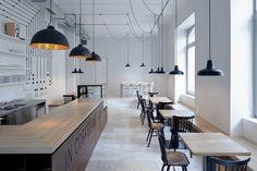cafeterías minimalistas minimalist cafe
