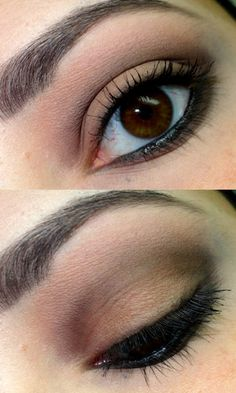 Neutral eye makeup. Get the look with Sephora products @ 10% cash back http://studentrate.com/studentrate/itp/get-itp-student-deals/Sephora-Student-Discounts--/0