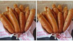 180 C , min, pred pečením potrieť mliekom Hot Dog Buns, Hot Dogs, Czech Recipes, Ethnic Recipes, Sausage, Food And Drink, Bread, Basket, Food