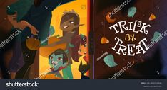 Trick Or Treat, Cartoon, Halloween, Children, Young Children, Boys, Kids, Cartoons, Comics And Cartoons