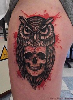 Owl Skull Tattoos Designs Ideas and Meaning | Tattoos For You
