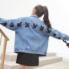 Cute embroidered denim jacket YV3014