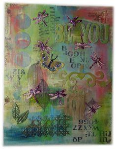 Be You mixed media art canvas 11x14