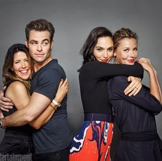 Patty Jenkins, Chris Pine, Gal Gadot and Connie Nielsen. Wonder Woman. ComicCon 2016.
