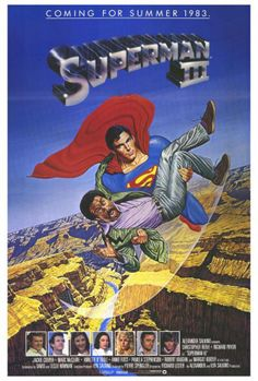 Superman 3 Framed Poster Movie 27 x 40 Inches - x Christopher Reeve Richard Pryor Annette O'Toole Jackie Cooper Superman Poster, Superman Movies, Dc Movies, Superhero Movies, Marvel Movies, Great Movies, Superman Art, Famous Movies, Cult Movies