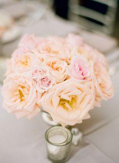 #centerpiece, #rose  Photography: Jodi Miller Photography - jodimillerphotography.com/  Read More: http://www.stylemepretty.com/2013/11/20/a-maryland-estate-wedding-from-jodi-miller-photography/