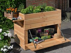 alte kiste mit jungem gem se urban gardening balcony pinterest container gardening. Black Bedroom Furniture Sets. Home Design Ideas