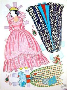 """Snow White paper doll from Disney's """"Snow White & the 7 Dwarfs"""" (7 of 12)"""
