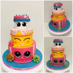 For my own little Mini-Me ! She wanten a Shopkins Cake.. So Shopkins it is ! Happy 12th birthday love ❤️ #shopkinscake