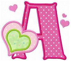 Love Letters Applique - 3 Sizes! | Alphabets | Machine Embroidery Designs | SWAKembroidery.com Fun Stitch