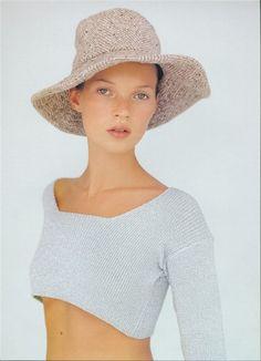 Vogue UK Dec 1993 Kate Moss by Kim Knott