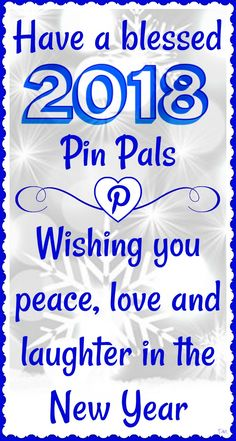 Have a blessed 2018 pin pals ♥ Tam ♥