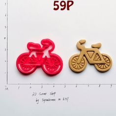 Bicycle Cookie Cutter not bicycle accessories by TopCookieMore