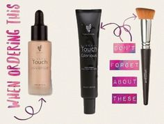 Perfect trio! Primer + brush + liquid foundation = flawless finish! #younique #makeup #foundation #primer #glorious #brushes