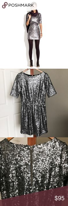 Madewell Last Dance Sequin Dress Gorgeous sparkly Sequin dress from Madewell. Size 4, true to size. Exposed back Zip. No signs of wear--excellent condition! Retail: $228 Madewell Dresses Mini