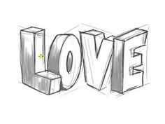 How to Draw LOVE Graffiti Letters - rosalie Love Graffiti, Graffiti Words, Graffiti Lettering, Graffiti Art, How To Draw Graffiti, 3d Pencil Drawings, Cool Art Drawings, Art Drawings Sketches, Easy Drawings