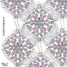 Crochet Bedspread Archives - Beautiful Crochet Patterns and Knitting Patterns Crochet Motifs, Granny Square Crochet Pattern, Crochet Blocks, Crochet Mandala, Crochet Diagram, Crochet Stitches Patterns, Crochet Chart, Crochet Squares, Knitting Patterns