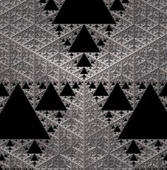 Sierpinski triangle viewed from the top