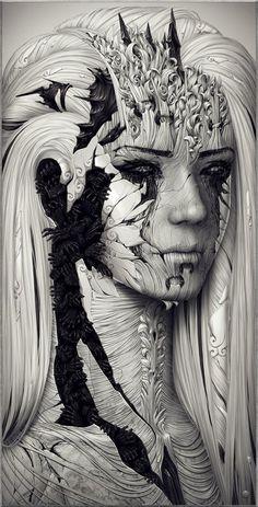 Digital Art by Ukraine based artist Hollllow
