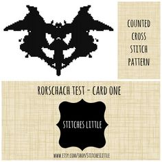 Modern Cross Stitch  Rorschach Test Cross Stitch by StitchesLittle