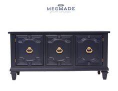 1313-01404 Stunning Navy Blue Credenza Dresser by MegMadeInc on Etsy https://www.etsy.com/listing/249757053/1313-01404-stunning-navy-blue-credenza