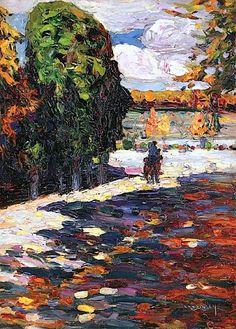 Wassily Kandinsky - Park von St. Cloud mit Reiter