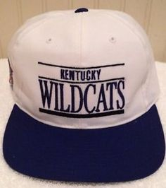 very nice Kentucky Wildcats vintage Snapback hat cap. Made by Annco. Made in Bangladesh. Only condition issue is that on top of Bill there  is a little thread pulling.  Visit http://www.ebay.com/usr/bigthax62 #KentuckyWildcats #Bluegrass #VinatgeCollege #DIY #Christmas #MarchMadness