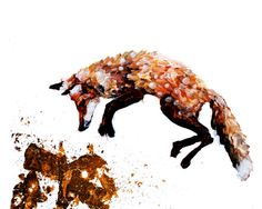Pouncing Fox  Print  8 x 10 by SorchaMoon on Etsy
