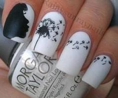 Black and white wedding nails  Keywords: #bridalnails #blackandwhitethemedwedding #jevelweddingplanning Follow Us: www.jevelweddingplanning.com  www.facebook.com/jevelweddingplanning/