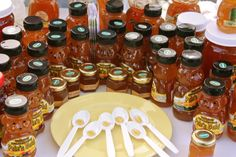 k.c.c. farmers market honolulu - they let you try all the honey, so ono!