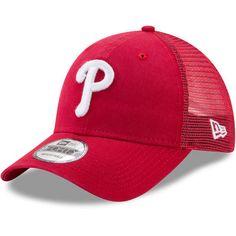 4f706bdf4886ba Philadelphia Phillies New Era Trucker Washed Original Fit 9FORTY Adjustable  Hat - Red