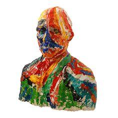 <p> Langzaam maar zeker druppelen de beschilderde beelden van Vincent bij me binnen. Zo heeft ookde Tilburgse kunstenaar Rob van Trier(1957) zich een poosje geleden al ontfermtover één van mijn Vincent's.Het werk van Rob straalt onvergelijkbare levenslust en schildersplezier uit. In zijn beschildering van Vincent is een duidelijke samenhang terug …</p>