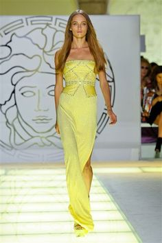 VERSACE yellow gown