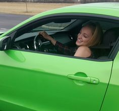 Check out American Idol's Alexis Gomez and her Gotta Have it Green 2013 Mustang 5.0.