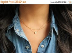 Layering NecklaceInitial Jewelry Lower case by PROJECTDAHLIA