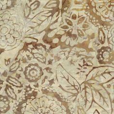 $13.49 per meter  Cocoa Berry Tonga Batik - Khaki Floral Tonga, Printmaking, Berry, Caramel, Backgrounds, Fabrics, Textiles, Quilts, Patterns