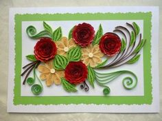 quilled card by pixie