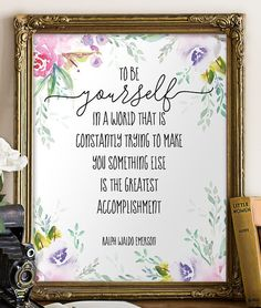Printable art Ralph Waldo Emerson quote print by TwoBrushesDesigns #inspirationalquotes