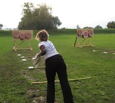 At more than distance, knife throwing takes quite some effort. But finesse trumps over muscles, she demonstrates. Throwing Tomahawk, Knife Throwing, Cultural Artifact, Shuriken, Alter Ego, Muscles, Distance, Effort, Survival