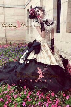 Vintage gothic wedding dresses bridal gowns
