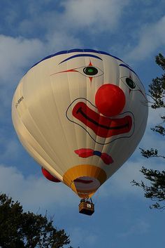 """#Hot-air Balloon Clown Special Shape #clownnose #whythenose Pictures and moments of happy clown Noses! Tag, Share, Pin! """"Sometimes the smallest mask is the easiest way to reveal your true self..."""""""