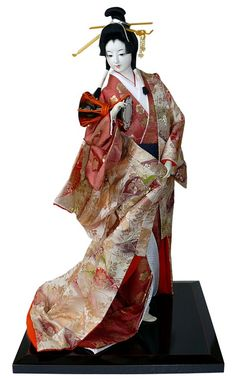 Japanese antique samurai doll. Japanese Kimono Dolls Catalogue. Japanese Art online shop. The Black Samurai Online Shop.