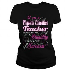Physical Education Teacher WOMEN T Shirts, Hoodies, Sweatshirts. GET ONE ==> https://www.sunfrog.com/LifeStyle/Physical-Education-Teacher-WOMEN-Black-Ladies.html?41382