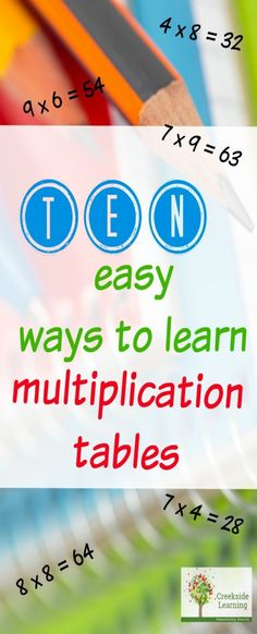 How to Learn Multiplication Tables Quickly - 10 Ideas how to learn multiplication tables quickly and easily, great for summer multiplication practice, summer bridge math, math activities for elementary school Math For Kids, Fun Math, Maths, Math Resources, Math Activities, Multiplication Practice, Multiplication Tricks, Math Fractions, Learning Multiplication Tables