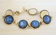 Blue Link Bracelet - Resin Bracelet - Unique Bracelet - Hand Painted Jewelry - Stacking Bracelet- Minimal Bracelet - Modern Jewelry - Gift by IvanRoseCreations on Etsy